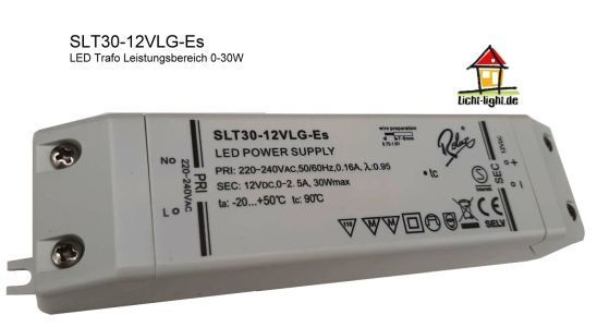 Rolux / Self SLT30-12VLG-Es LED Trafo 0 - 30W