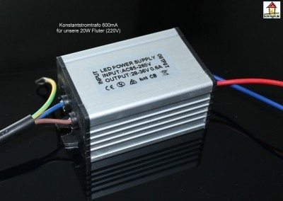 LED 20W Konstantstromtreiber In 220V Out DC 600mA