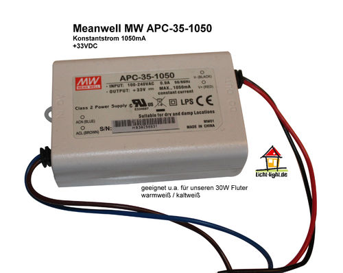 Mean Well APC-35-1050 LED Konstantstromtreiber