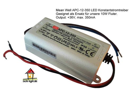 Mean Well APC-12-350 LED Konstantstromtreiber