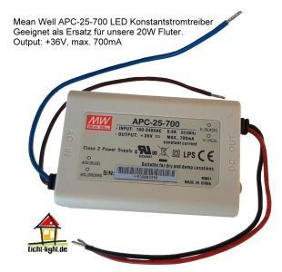 Mean Well APC-25-700 LED Konstantstromtreiber